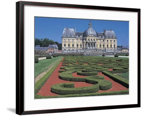 Formal Garden in Front of a Castle--Framed Art Print