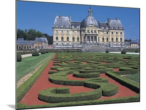 Formal Garden in Front of a Castle--Mounted Photographic Print