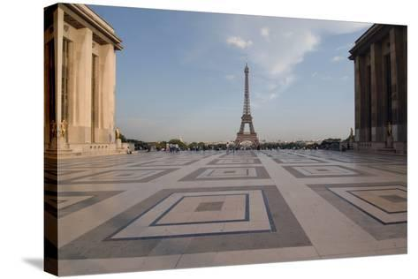 Eiffel Tower (1889) Seen from Chaillot Palace (1937) in Trocadero Gardens--Stretched Canvas Print