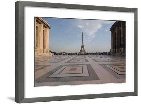 Eiffel Tower (1889) Seen from Chaillot Palace (1937) in Trocadero Gardens--Framed Art Print