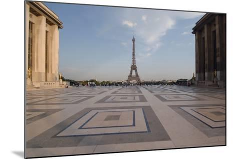 Eiffel Tower (1889) Seen from Chaillot Palace (1937) in Trocadero Gardens--Mounted Photographic Print