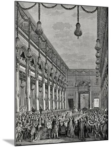 Engraving of Royal Banquet at Hotel De Ville--Mounted Giclee Print