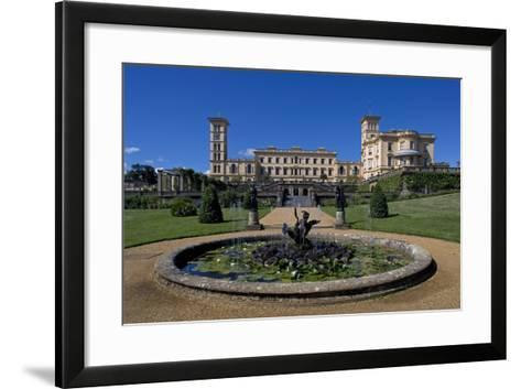 Fountain and Entrance to Gardens of Osborne House--Framed Art Print