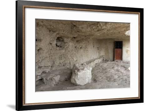 Entrance to Cell in the Aladzha Rock Monastery (12th Century)--Framed Art Print