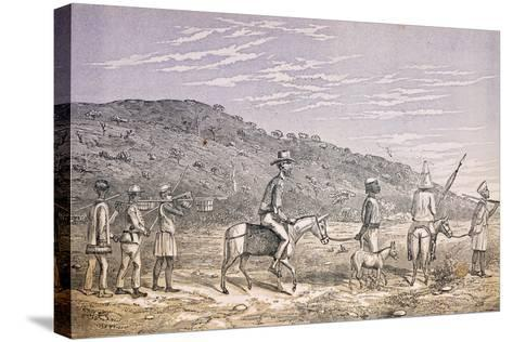 Explorers in East Africa--Stretched Canvas Print