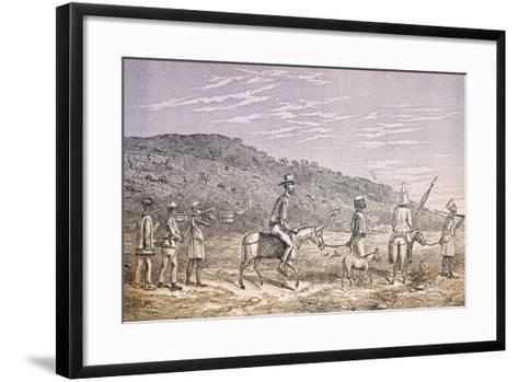 Explorers in East Africa--Framed Art Print