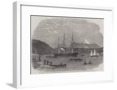 Exploring Expedition Along the Coasts of Vancouver's Island and British Columbia--Framed Art Print