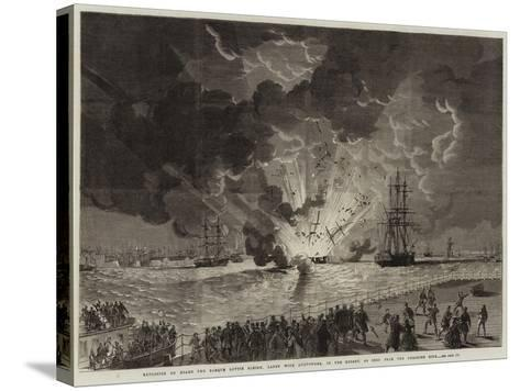 Explosion on Board the Barque Lottie Sleigh--Stretched Canvas Print