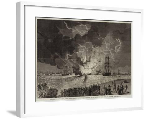 Explosion on Board the Barque Lottie Sleigh--Framed Art Print