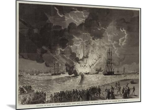 Explosion on Board the Barque Lottie Sleigh--Mounted Giclee Print