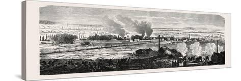 Franco-Prussian War: View of the Plane at Le Bourget on 23 December 1870. from Left to Right: Dugny--Stretched Canvas Print
