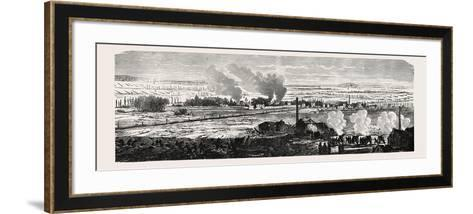 Franco-Prussian War: View of the Plane at Le Bourget on 23 December 1870. from Left to Right: Dugny--Framed Art Print