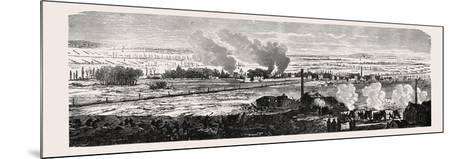 Franco-Prussian War: View of the Plane at Le Bourget on 23 December 1870. from Left to Right: Dugny--Mounted Giclee Print