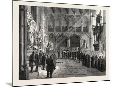 Funeral of Lord Palmerston: the Procession to the Grave in the Interior of Westminster Abbey--Mounted Giclee Print