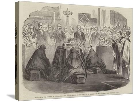Funeral of the Duchess of Gloucester--Stretched Canvas Print
