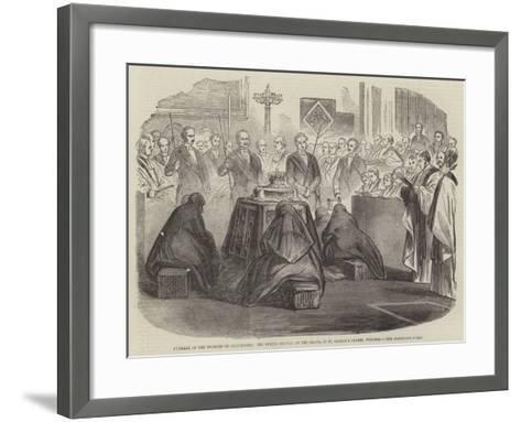 Funeral of the Duchess of Gloucester--Framed Art Print