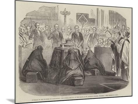 Funeral of the Duchess of Gloucester--Mounted Giclee Print