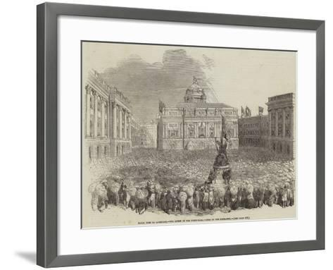 Her Majesty's Visit to Lancashire--Framed Art Print