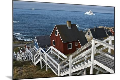 Group of Houses with Wooden Staircase--Mounted Photographic Print