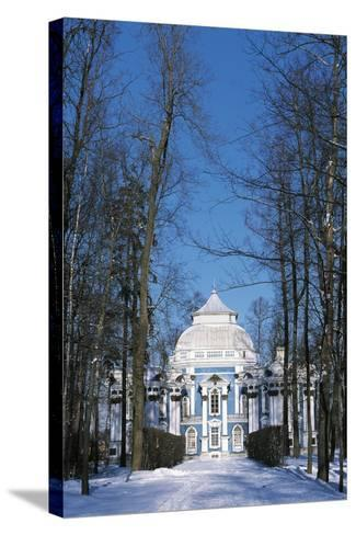 Hermitage Pavilion in Snow--Stretched Canvas Print