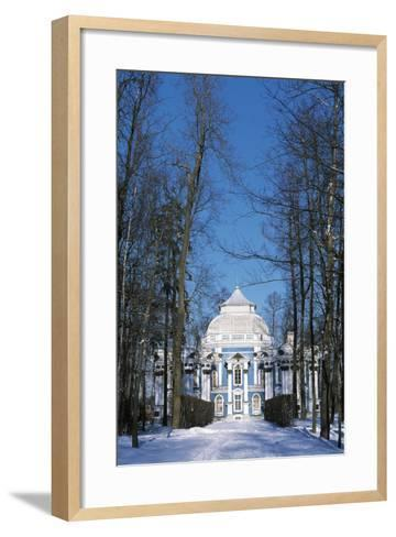 Hermitage Pavilion in Snow--Framed Art Print