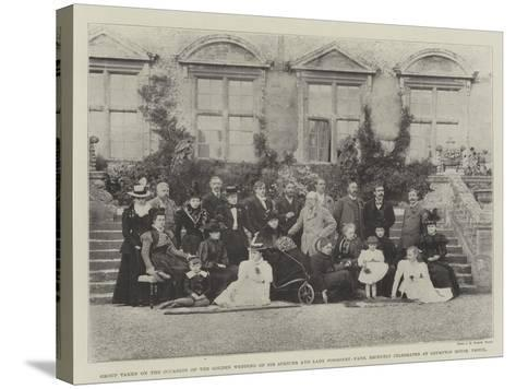 Group Taken on the Occasion of the Golden Wedding of Sir Spencer and Lady Ponsonby-Fane--Stretched Canvas Print