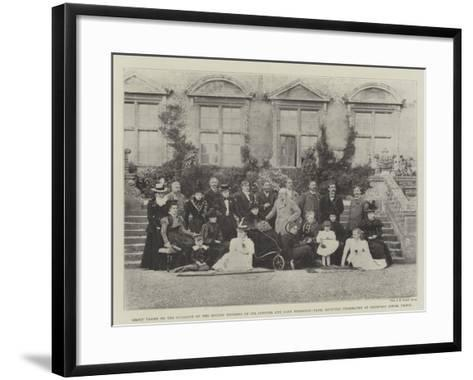 Group Taken on the Occasion of the Golden Wedding of Sir Spencer and Lady Ponsonby-Fane--Framed Art Print