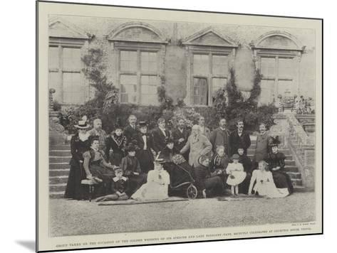 Group Taken on the Occasion of the Golden Wedding of Sir Spencer and Lady Ponsonby-Fane--Mounted Giclee Print