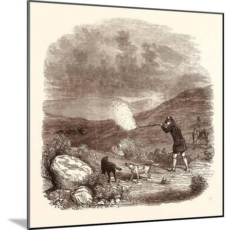 Grouse Shooting in August. Shotgun--Mounted Giclee Print