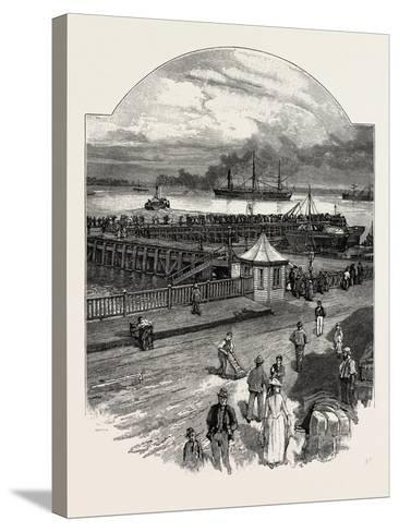 Harwich: the Quay--Stretched Canvas Print