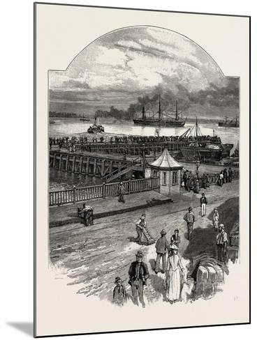 Harwich: the Quay--Mounted Giclee Print
