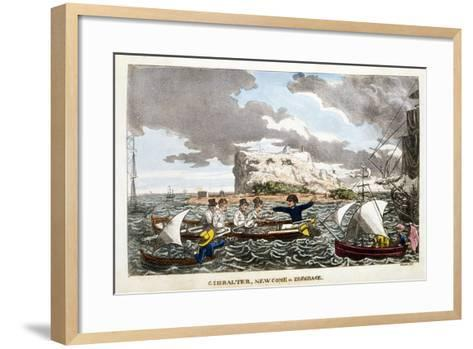 Gibraltar: Newcome in Disgrace Plate from 'The Adventures of Johnny Newcome in the Navy' by John Mi--Framed Art Print