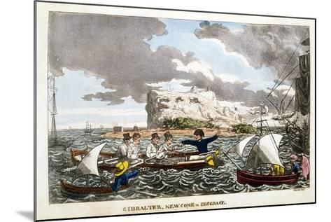 Gibraltar: Newcome in Disgrace Plate from 'The Adventures of Johnny Newcome in the Navy' by John Mi--Mounted Giclee Print