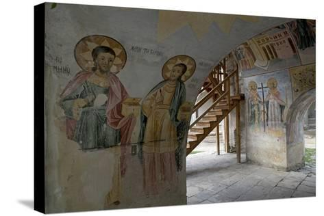 Frescoes in the Narthex of the Holy Mother of God Church (Sveta Bogorodica)--Stretched Canvas Print