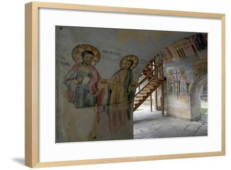 Frescoes in the Narthex of the Holy Mother of God Church (Sveta Bogorodica)--Framed Art Print