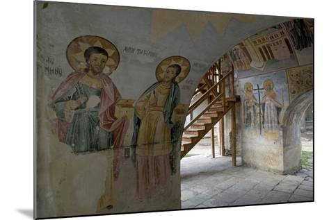 Frescoes in the Narthex of the Holy Mother of God Church (Sveta Bogorodica)--Mounted Photographic Print