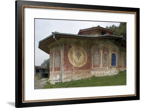 Frescoes on the Facade of the Church of the Transfiguration Monastery (Preobrazenski Manastir)--Framed Art Print