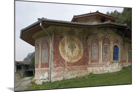Frescoes on the Facade of the Church of the Transfiguration Monastery (Preobrazenski Manastir)--Mounted Photographic Print
