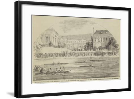 Grand Entertainment Given at the Castle Hotel--Framed Art Print