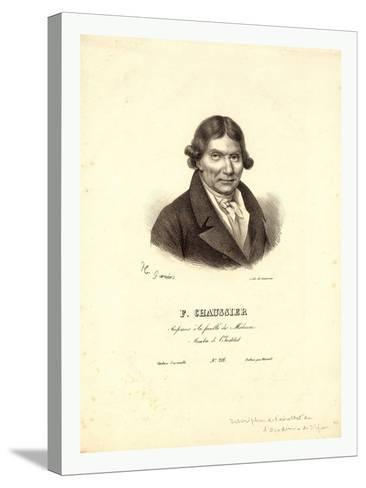 Head-And-Shoulders Profile Portrait of French Balloonist J.A.C. Charles--Stretched Canvas Print