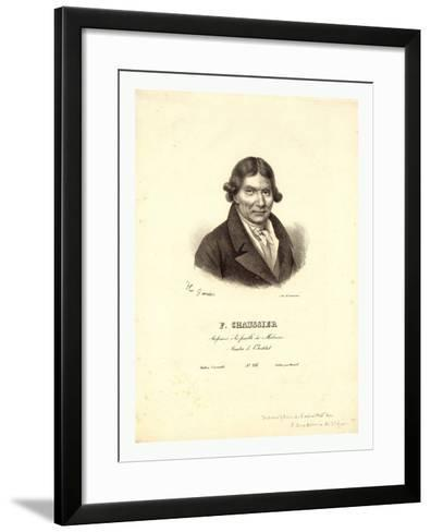 Head-And-Shoulders Profile Portrait of French Balloonist J.A.C. Charles--Framed Art Print