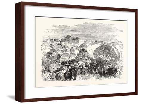 Franco-Prussian War: Residents of the Zollinie Flee--Framed Art Print
