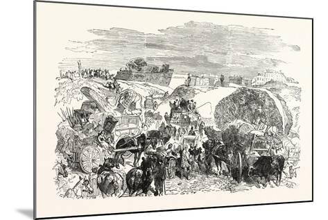 Franco-Prussian War: Residents of the Zollinie Flee--Mounted Giclee Print