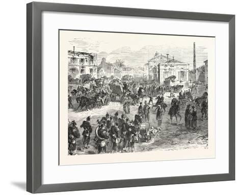 Franco-Prussian War: Scene after the Entry of German Troops in Saint-Denis on 29 January 1871--Framed Art Print