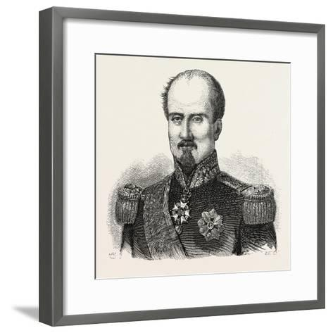 General Brunet--Framed Art Print