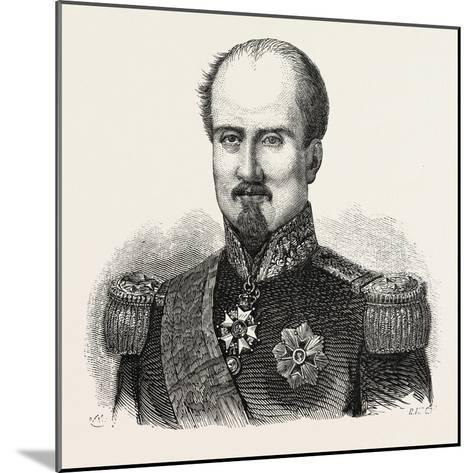 General Brunet--Mounted Giclee Print
