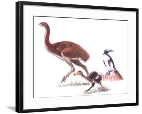 Illustration Representing Moa (Dinornithidae)--Framed Art Print