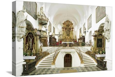 Interior of the Romanesque Basilica of St. Wenceslas (Founded in 1039 by Bretislaus I--Stretched Canvas Print