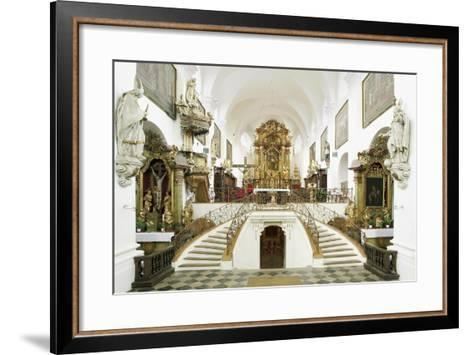 Interior of the Romanesque Basilica of St. Wenceslas (Founded in 1039 by Bretislaus I--Framed Art Print