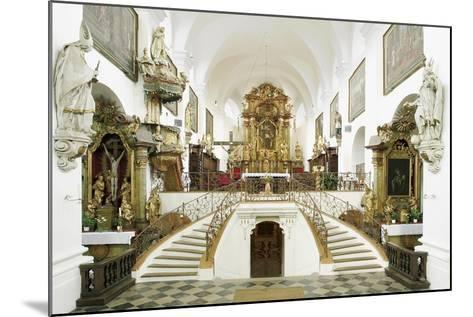 Interior of the Romanesque Basilica of St. Wenceslas (Founded in 1039 by Bretislaus I--Mounted Photographic Print